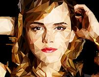 Emma Watson Low Poly