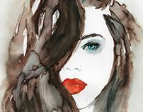Watercolor Beauty Portrait