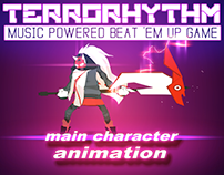 main character animation and VFX for TERRORHYTHM game