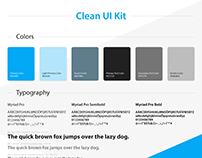 Clean UI Kit Preview