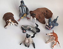 little clay animals