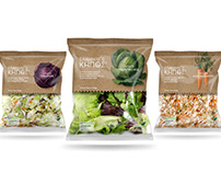 Ellinikos Kipos salads packaging