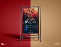 Free Signboard Banner Mockup