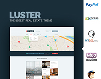 Luster Real Estate WordPress Theme.