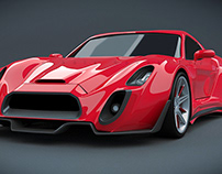 Retro sportscar concept