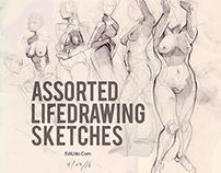 Assorted Life Drawing Sketches