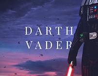 Young Darth Vader on Mustafar