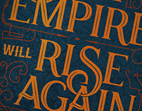 The Sith Empire will rise... | Typography Quote