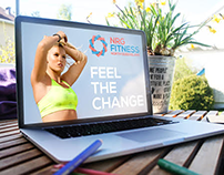 Branding mockups for NRG Fitness FNQ by kingtidemedia