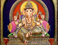 Tanjore Painting Ganesh Tamil Tanjore Art Gallery