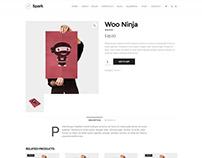 Spark WordPress Theme - Shop Single Product Page