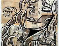 """""""Merci Pour La Via"""", 13.8*13.8In, Acrylic-Marker-Pencil"""