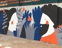 """""""Dialog"""" mural painting"""