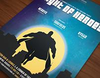 Superhero Themed Poster/Flyer II