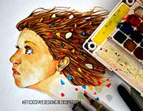 2014 Colors Watercolor & Copic Art