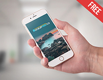 iPhone 6 Hand Hold - Free PSD Mockup