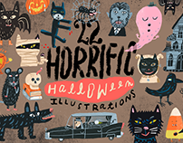 22 horrific Halloween Illustrations