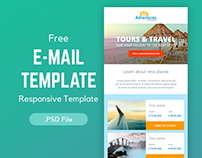 Free Email Newsletter PSD