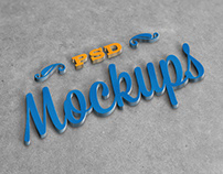 Free 3D Stylish Logo Mockup PSD Vol. 2