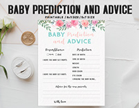 Free Floral Baby Prediction And Advice Printable