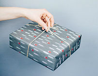 Winter holidays giftwrap