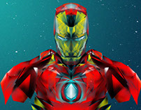 LOW POLY IRONMAN