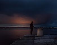 Night fishing Piran