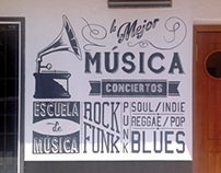 "Mural ""Music-Bar 4Gatos"""
