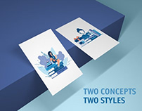 Which illustration was chosen by the customer?
