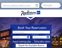 Radisson Blu responsive web design