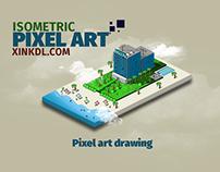 isometric pixel art