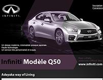 Infiniti Modèle Q50 WebSite