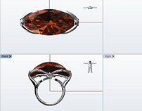 Orange Wedge - Cocktail Ring