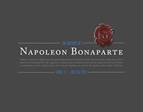 Napoleon Bonaparte Exhibition Poster and Invites
