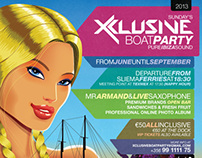 Xclusive Boat Party Poster.