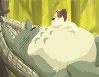 Digital Painting - Totoro