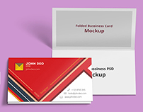 Free: Folded Business Card Psd Mockup