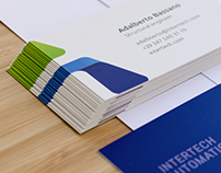 Intertech automation logo design and identity