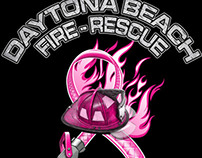 Daytona Beach Fire Department Breast Cancer Shirts