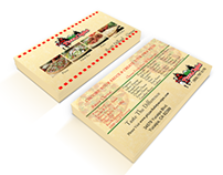 Pizza Chalet Business Card