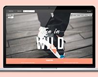 """Site web - e-commerce """"Run in wild"""""""