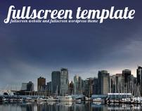 Wordpress Fullscreen Template