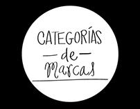 CATEGORÍAS DE MARCAS