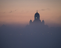 Midsummer night fog in Helsinki