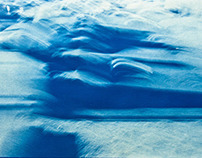The dead sea - cyanotype