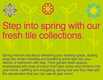 Step Into Spring Email Campaign
