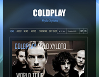 Layout for Coldplay website