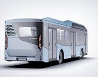 Volgabus CR12E Electrobus | Rendering & Modeling