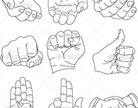 Vector Hands Illustrations