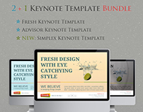 2+1 Keynote Templates Bundle